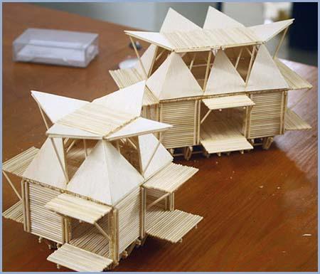 casas de bamb flotantes