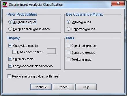 Analisis Diskriminan SPSS Classification