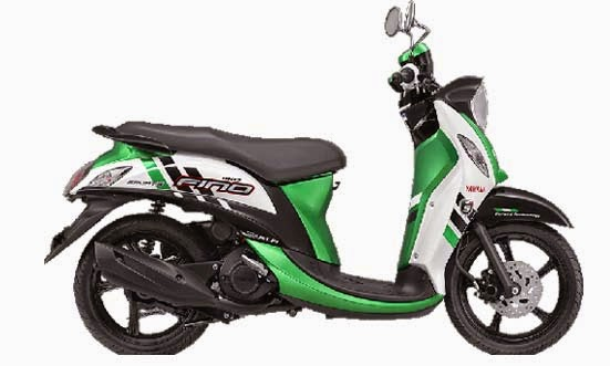 New Yamaha Fino FI Sporty Stylish Green