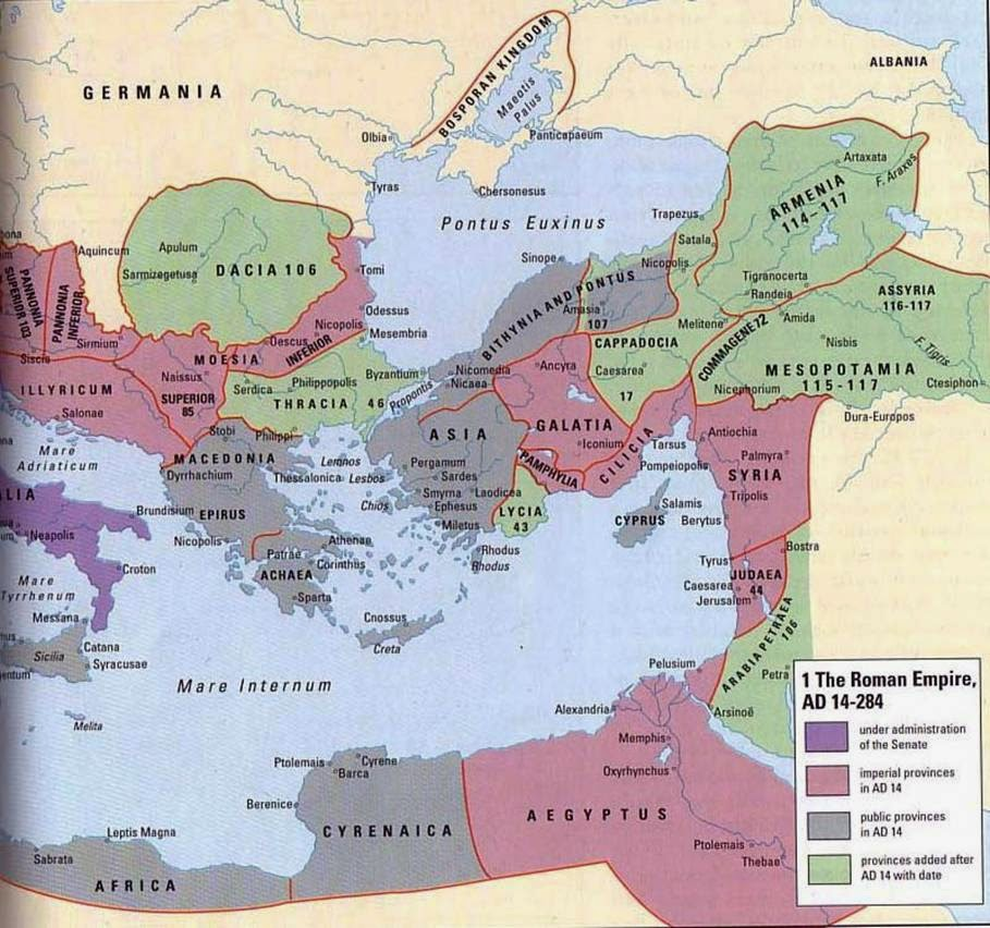 HISTORICAL MAPS: Roman Empire Eastern Border AD 300