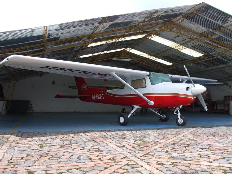 El HK-1912G del Aeroclub de Colombia, una de las dos aeronaves involucradas en el incidente.