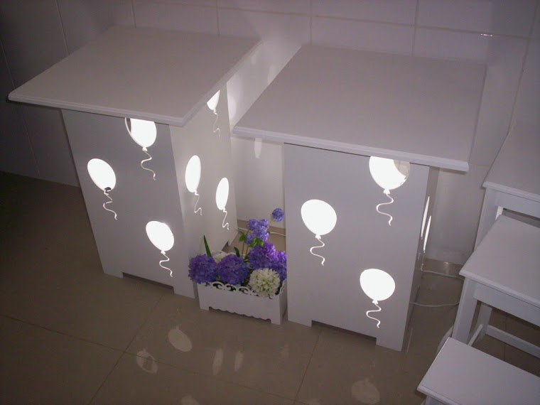 cubos bexigas luminarias