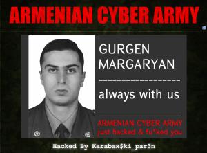 Armenian cyber army Azerbaijan independence day website