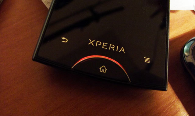 Sony Xperia phone with notification light