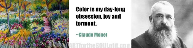 claude monet quote color is my day-long obsession...