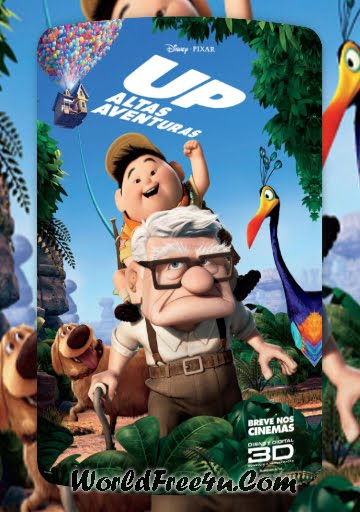 Poster Of Up (2009) In Hindi English Dual Audio 300MB Compressed Small Size Pc Movie Free Download Only At worldfree4u.com