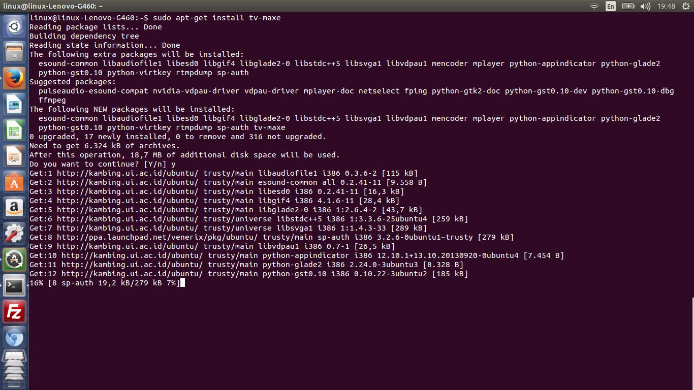 Nonton Tv Di OS Linux Ubuntu