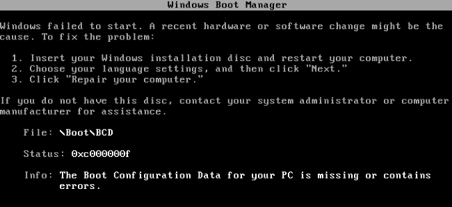 Missing Boot MBR