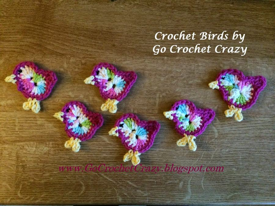 Free Crochet Bird Pattern by Go Crochet Crazy