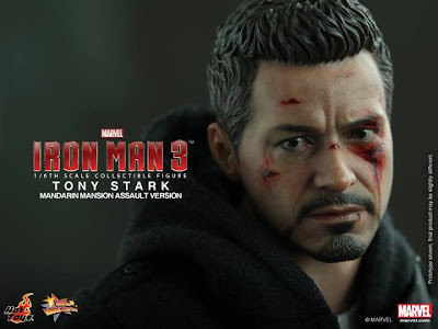 "Hot Toys 1/6 Scale Iron Man 3 12"" Tony Stark Figure"