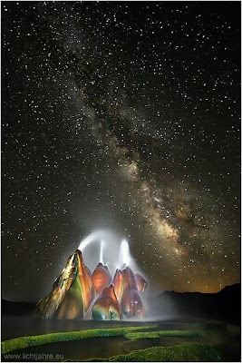 Moments of Eternity. Geysers in the Nevada desert, USA