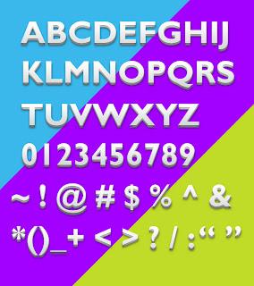 3D text styles psd