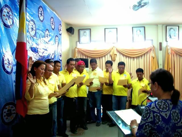 ABC Consolacion declare their oath before Mayor Alegado.