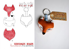 felt fox key ring