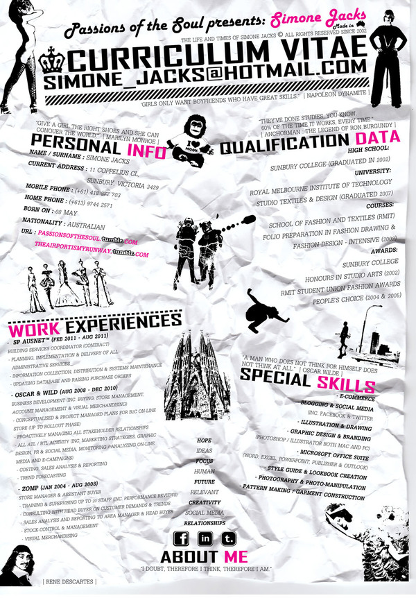 Famoso Curriculum Vitae Para La Muestra Del Diseñador Gráfico ...