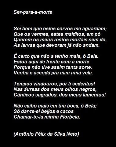 Poema Ser Para A Morte Antonio Félix Da Silva Neto