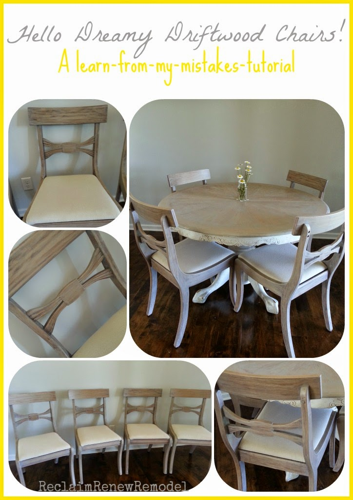 Furniture Fridays: Hello Dreamy Driftwood Chairs! A  Learn From My Mistakes Tutorial