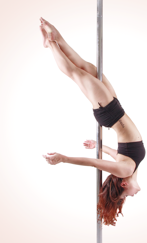 Cross Ankle Release - Pole dancers also work their range of motion, balance and coordination.