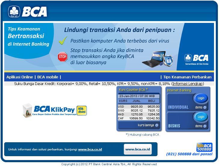 Cara mengaktifkan klikbca individual internet banking bca si ghe klikbca individual stopboris Choice Image