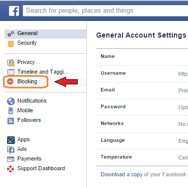 Facebook Blocking | Ongtrovert