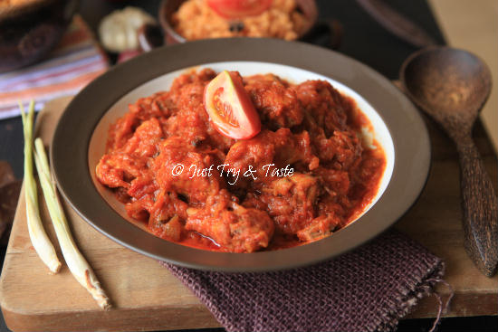 Resep Ayam Masak Merah JTT