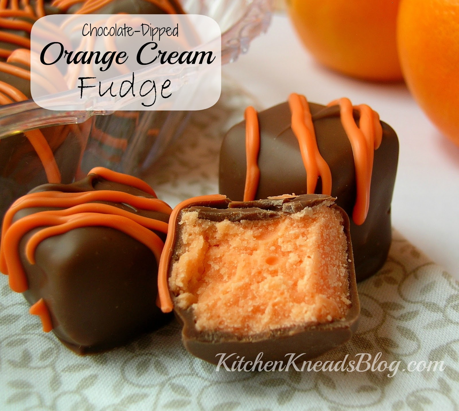 Chocolate-Dipped Orange Cream Fudge