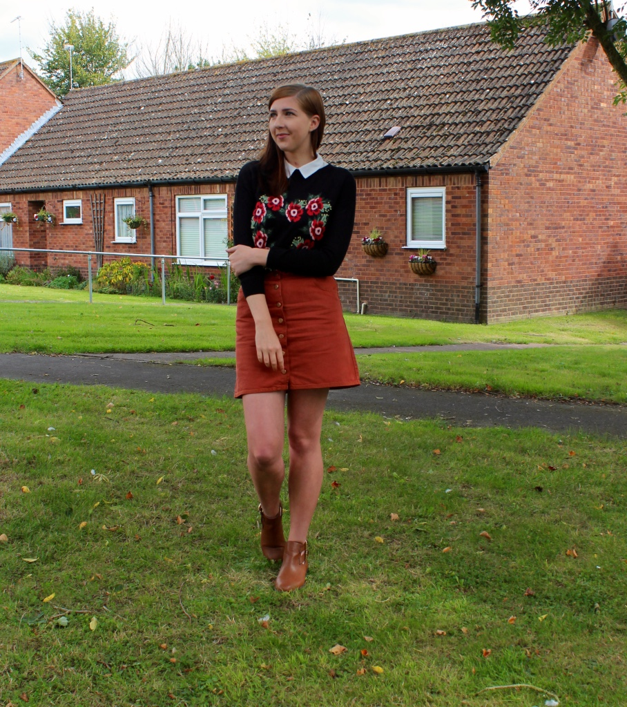 alineskirt, ASOS, asseenonme, autumn, autumnfashion, buttonthroughskirt, fashionblogger, fashionbloggers, fblogger, fbloggers, lookoftheday, lotd, ootd, outfitoftheday, rustskirt, sugarhillboutique, whatimwearing, wiw,