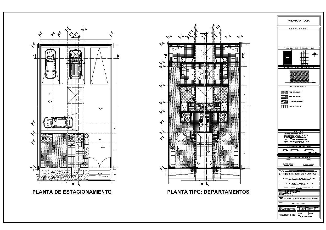 Carpeta trabajos realizados 2013 for Cortes arquitectonicos