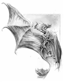 A Sparlking (small dragon) by Todd Lockwood