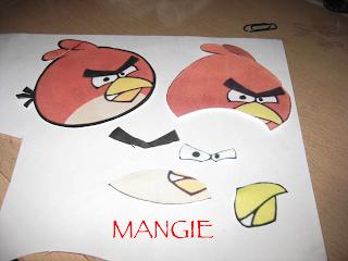 Piezas de Angry birds rojo