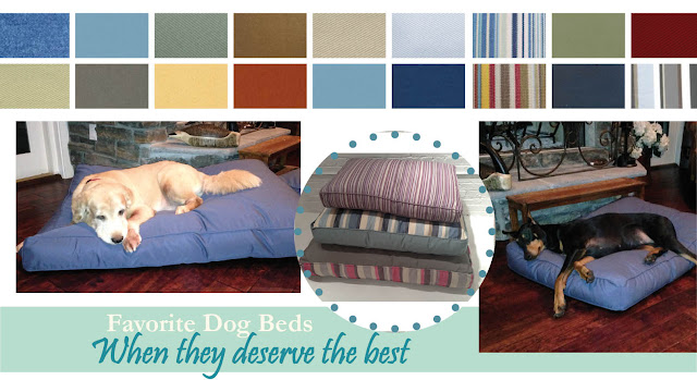 Dog bed cotton or sumbrella many fabric choices