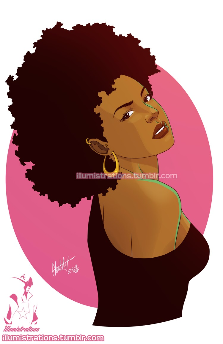 drawing sketch illustration black woman african american natural hairstyle afro fro naturalista image drawing curly kinky natural hair