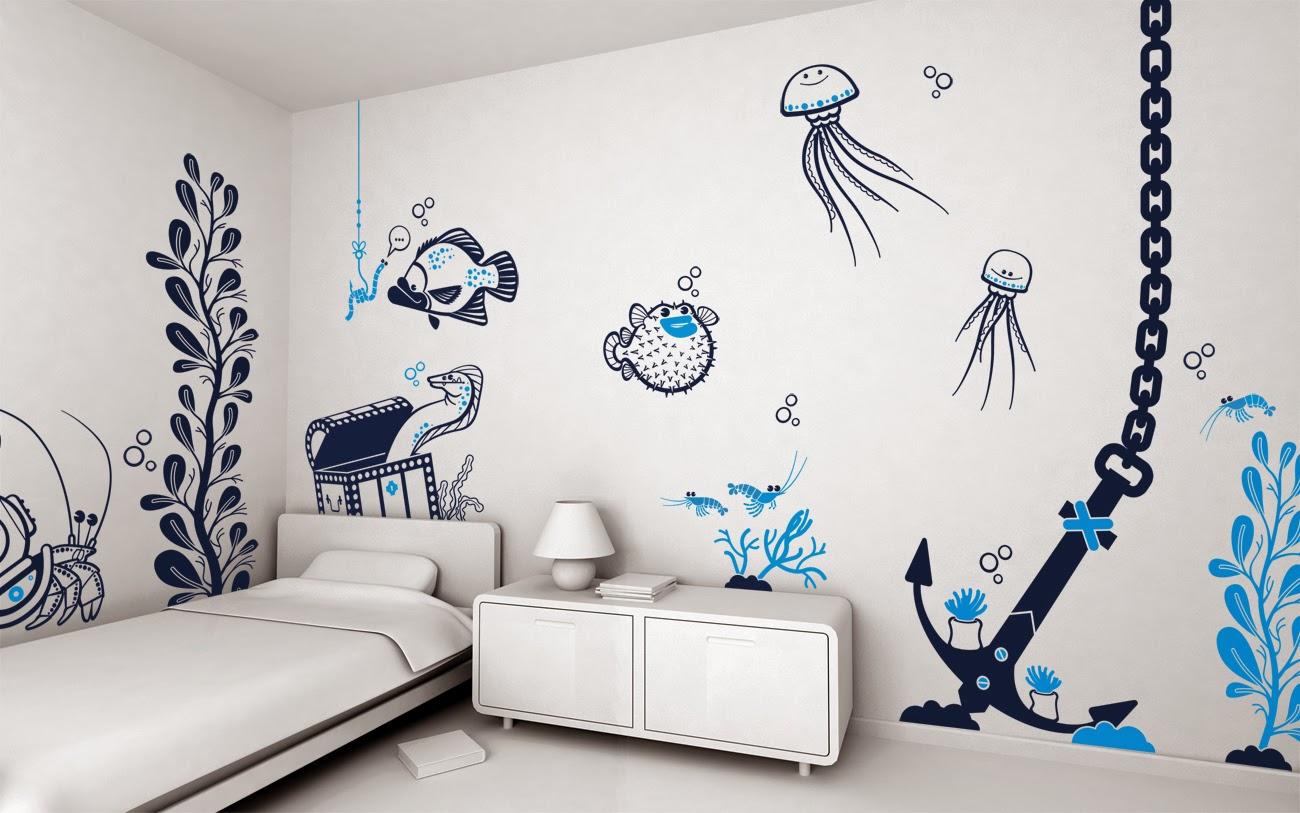 Образцы трафареты на стену своими руками фото