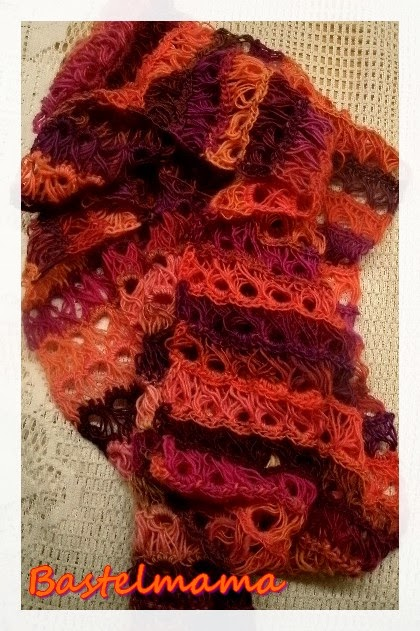 Crochet, Häkeln,Handarbeit, Schal mitSchlaufenoptik