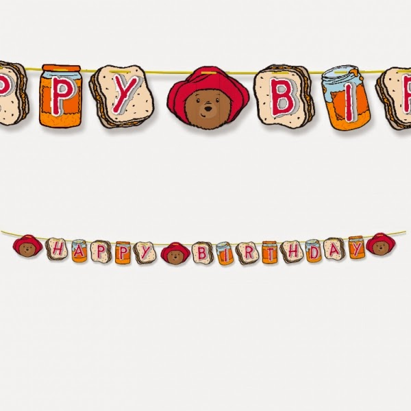Paddington Bear Happy Birthday Banner