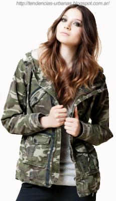 abrigo estilo militar Wanama invierno 2013