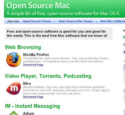 free software download photo of site open sourcemac.com . foto for free software wallpaper