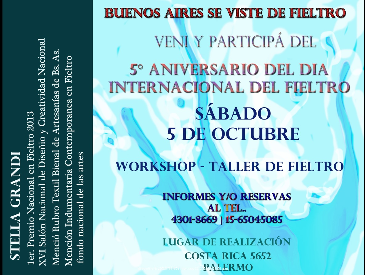 talleres de fieltro: DIA INTERNACIONAL DEL FIELTRO