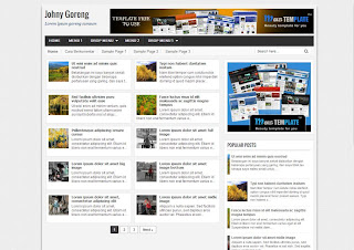 Johny Goreng Responsive Blogger Template Download