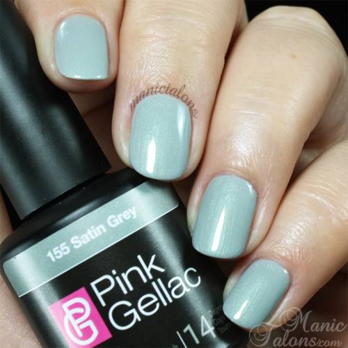 Pink Gellac Gel Polish Satin Grey Swatch