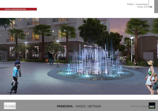 quảng trường nước pandora