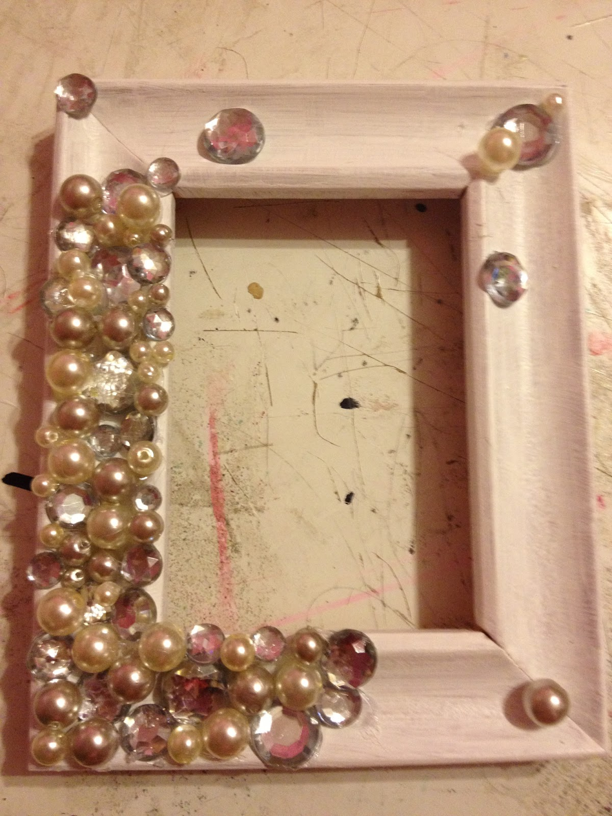 The Busy Broad: DIY Picture Frame Ring Holder
