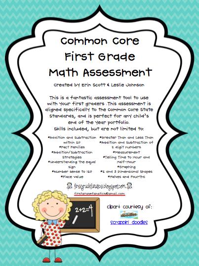 Math Assessment For First Graders - fluency checklist ...