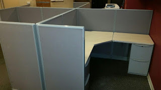 Used Low wall Haworth unigroup Office cubicles
