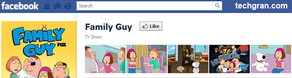 Family Guy on Facebook, TV Show