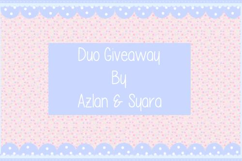 http://simplesyara.blogspot.com/2013/12/duo-giveaway-by-azlan-syara.html?