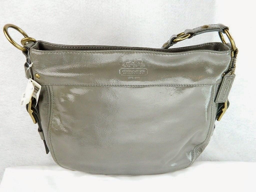coach gray patent leather handbag iqiq  Item of the Week: Coach Grey Patent Leather Bag ~ Le Thrift Consignment