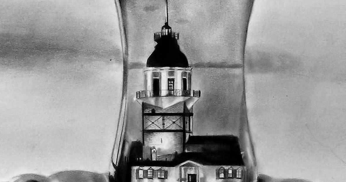Kulesi Kiz Karakalem Calismasi