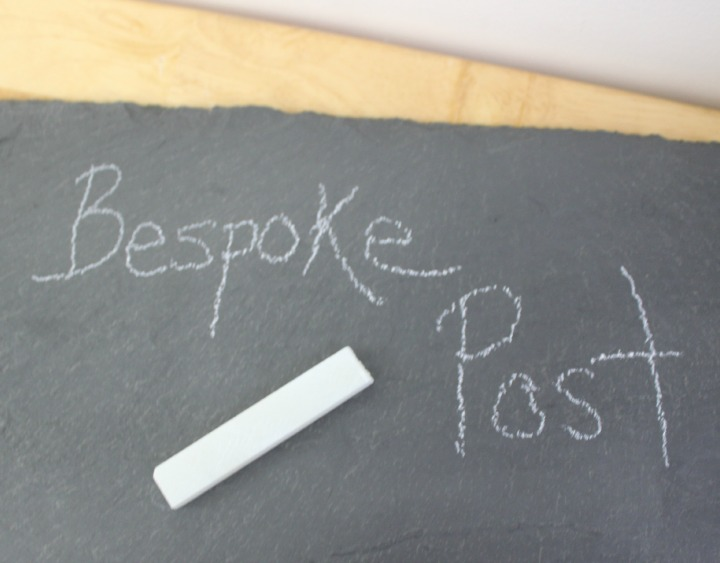 cheese board from Brooklyn Slate Co. soapstone chalk
