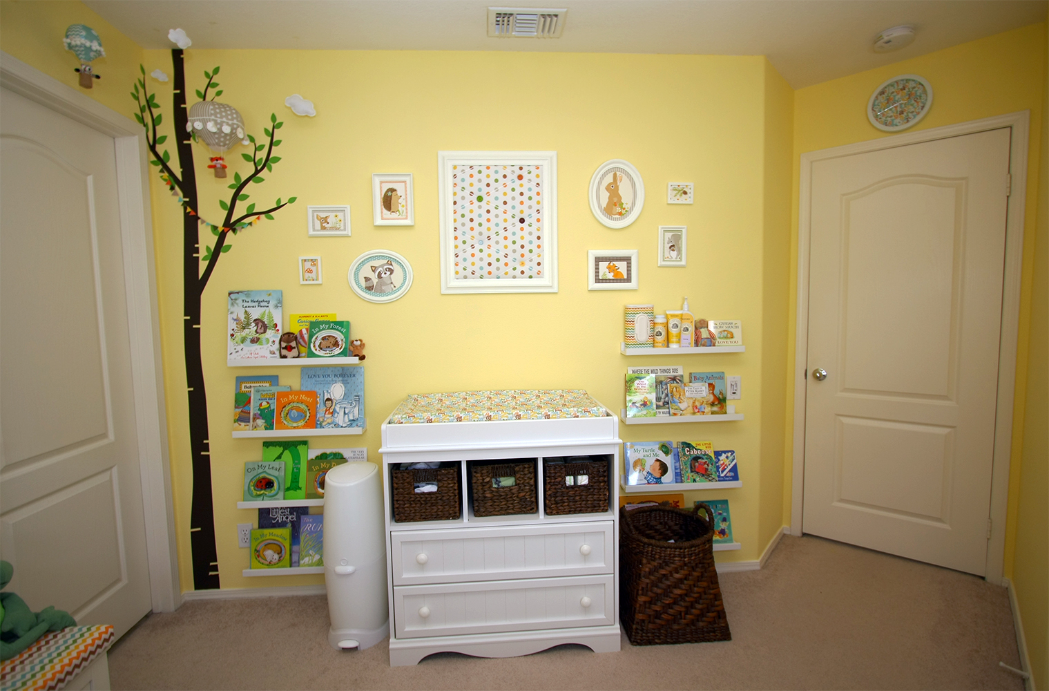 Ajax s woodland adventure gender neutral nursery for Creative baby rooms